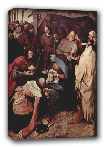 Bruegel the Elder, Pieter: The Adoration of the Kings. Fine Art Canvas. Sizes: A3/A2/A1 (00869)